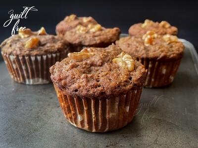 Buckwheat Banana Walnut Muffins (Eggless, Gluten-Free)