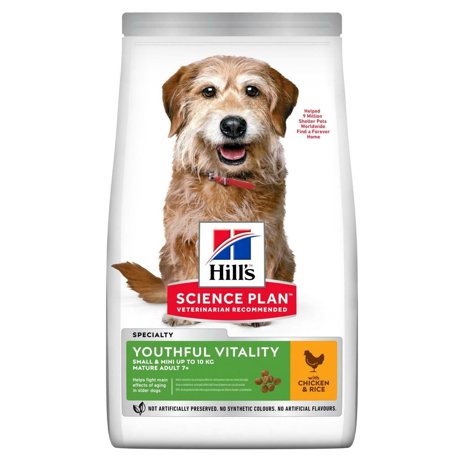 Hill's Science Plan Adult Youthful Vitality 7+ Small & Mini Breed Chicken Flavour