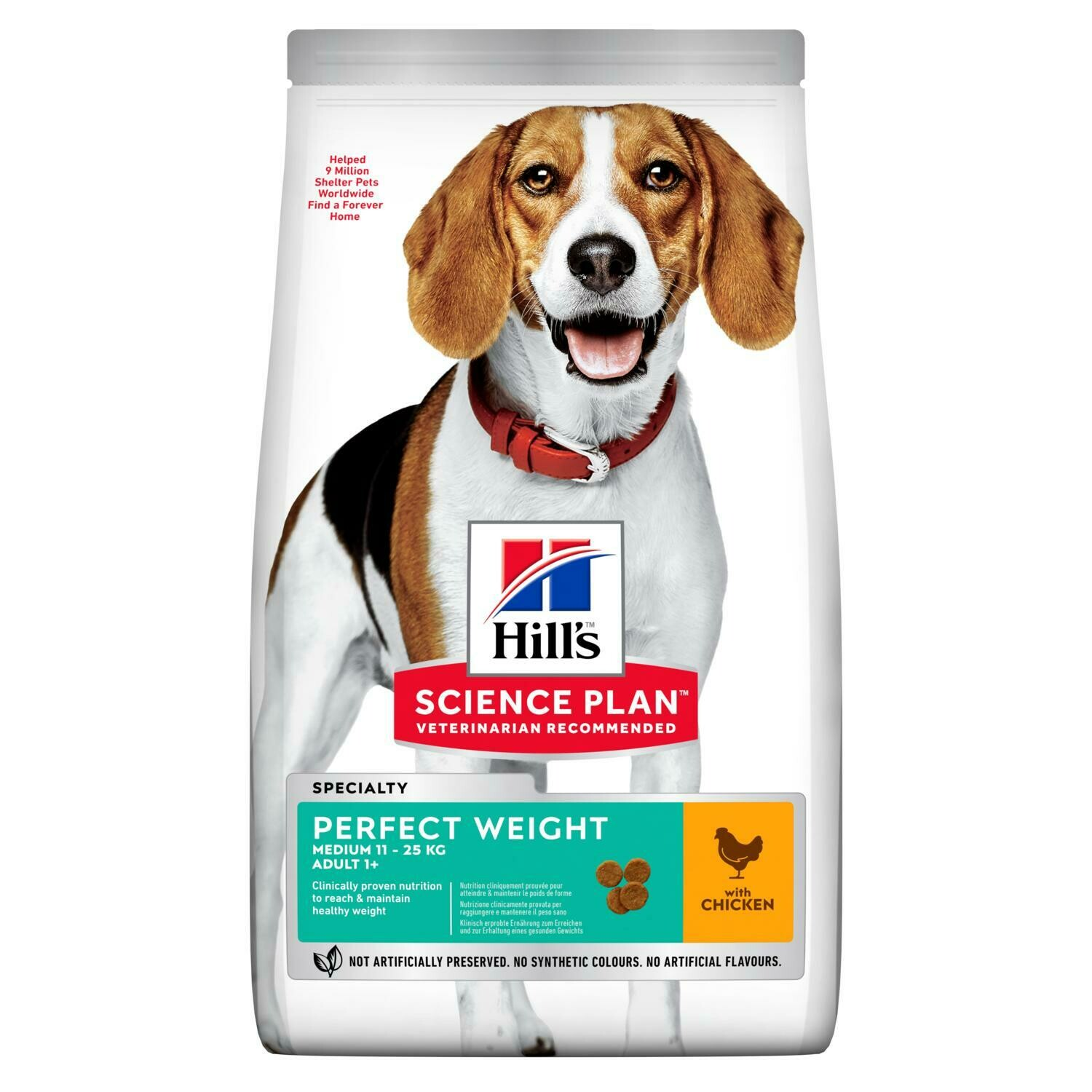 Hill's Science Plan Adult Perfect Weight Medium Breed Chicken Flavour