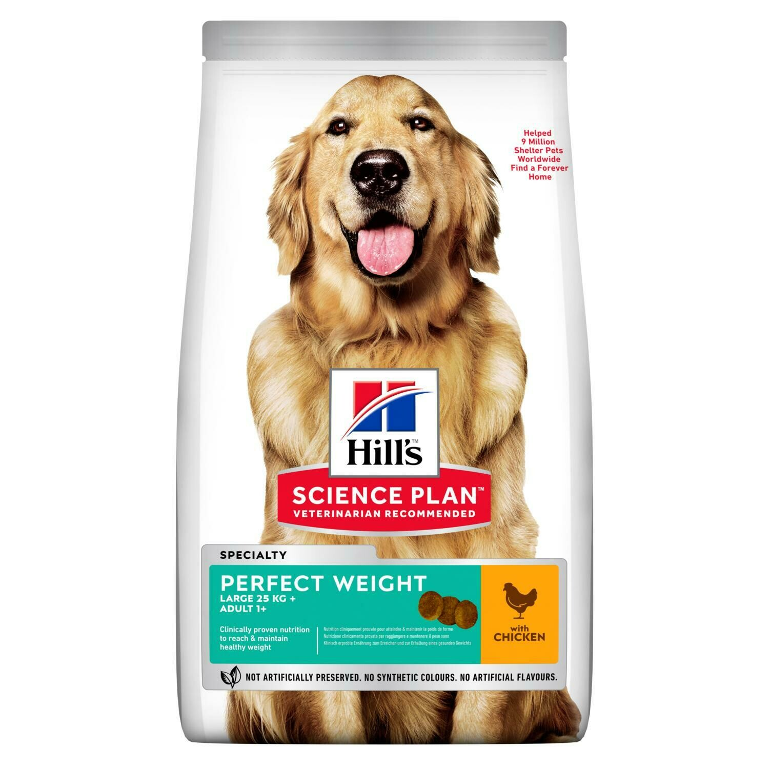 Hill's Science Plan Adult Perfect Weight Large Breed Chicken Flavour