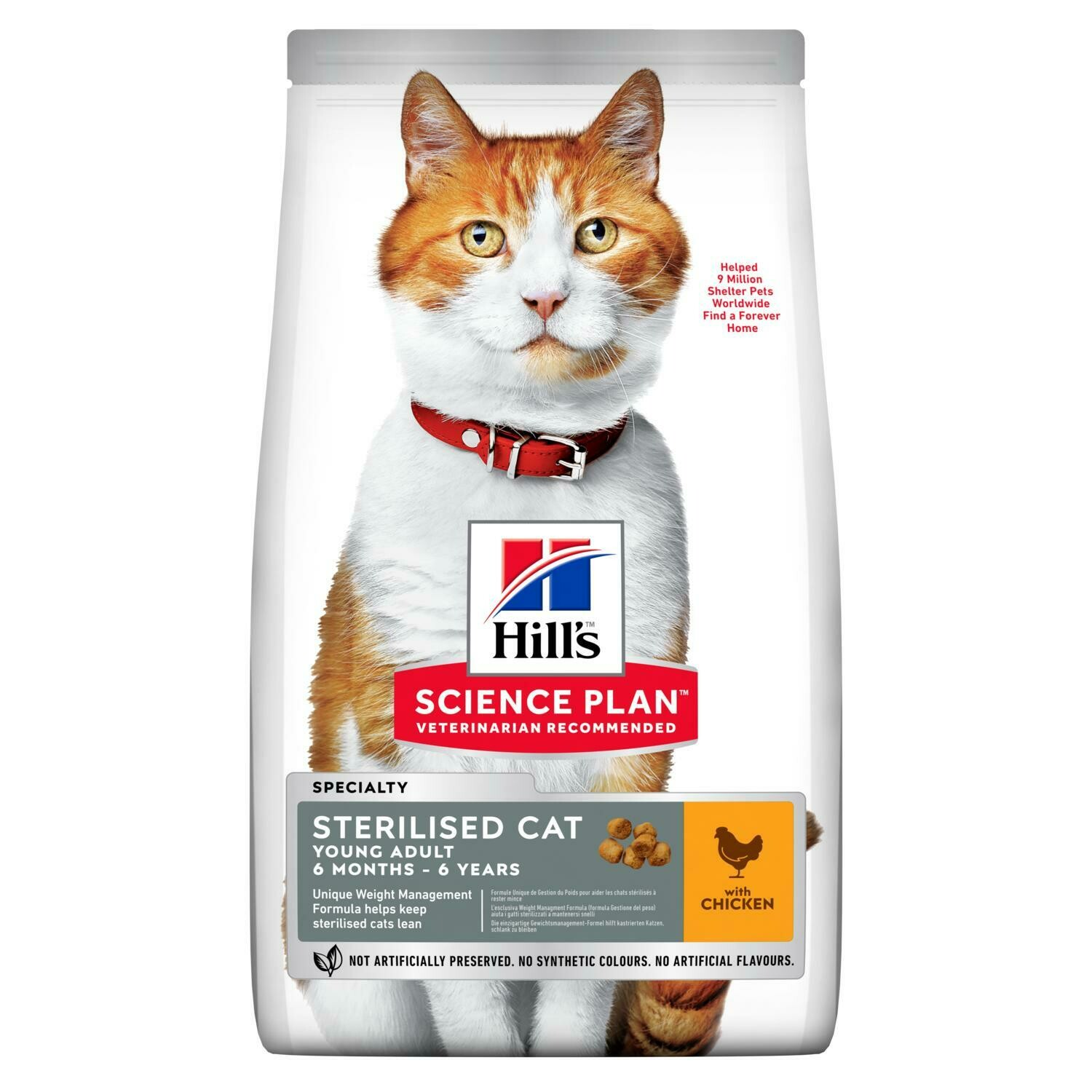 Hill's Science Plan Young Adult Sterilised Cat Dry Food Chicken Flavour