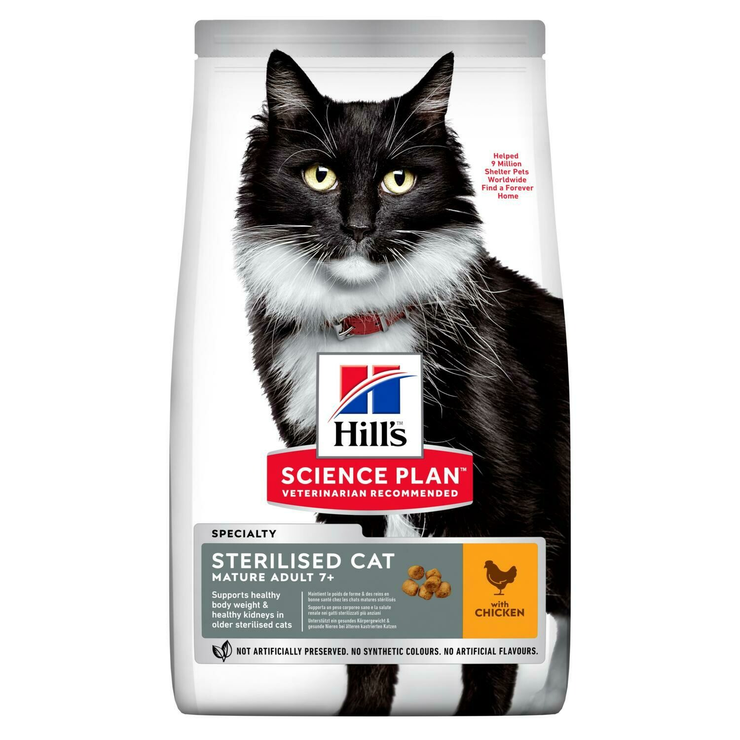 Hill's Science Plan Mature Adult Sterilised Cat Dry Food Chicken Flavour