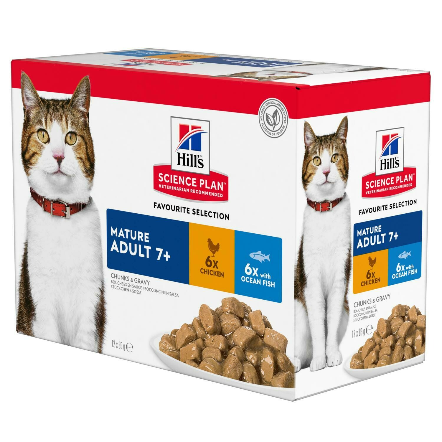 Hill's Science Plan Mature Adult Wet Food Chicken & Ocean Fish Flavour