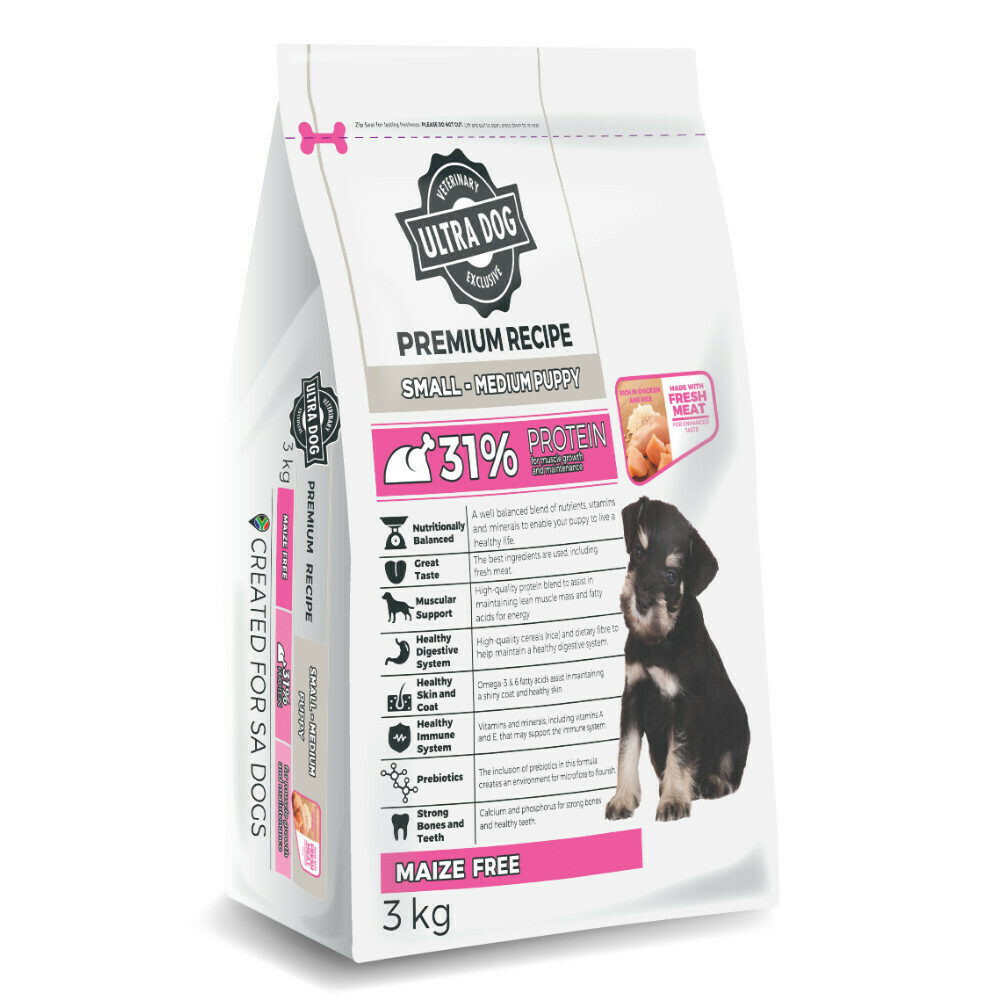Ultra Dog Premium Small/Medium Puppy Chicken Flavour