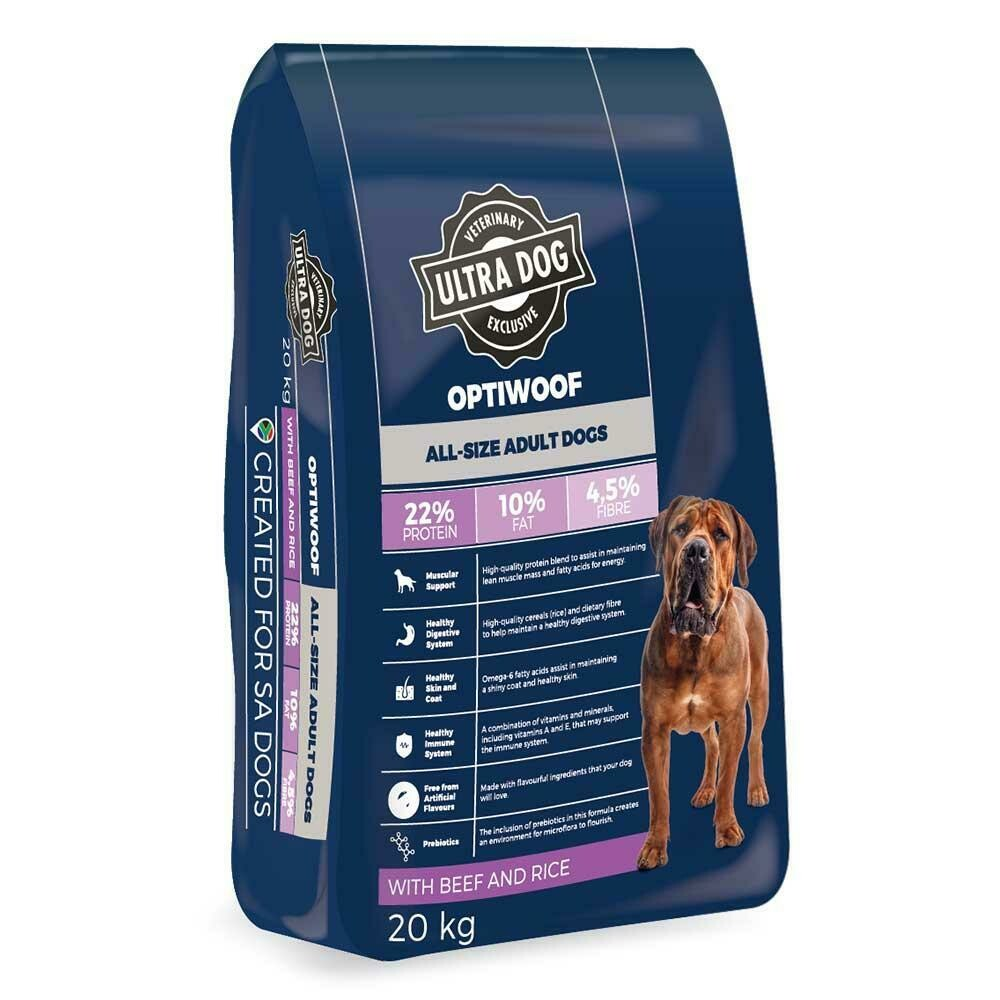 Ultra Dog OptiWoof Adult Beef & Rice Flavour