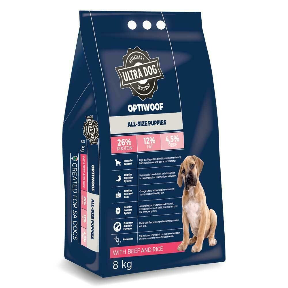 Ultra Dog OptiWoof Puppy Beef & Rice Flavour