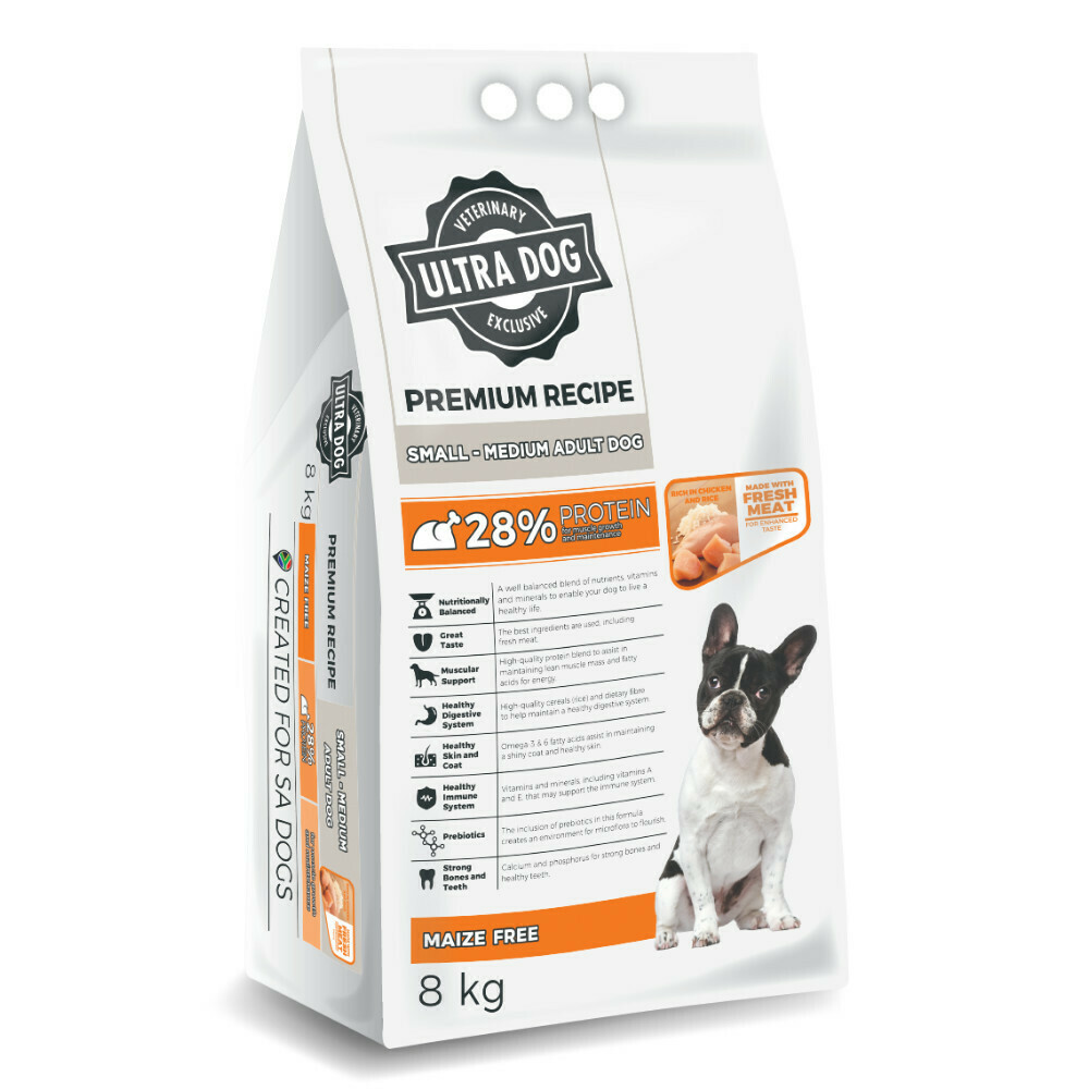 Ultra Dog Premium Small/Medium Adult Chicken Flavour