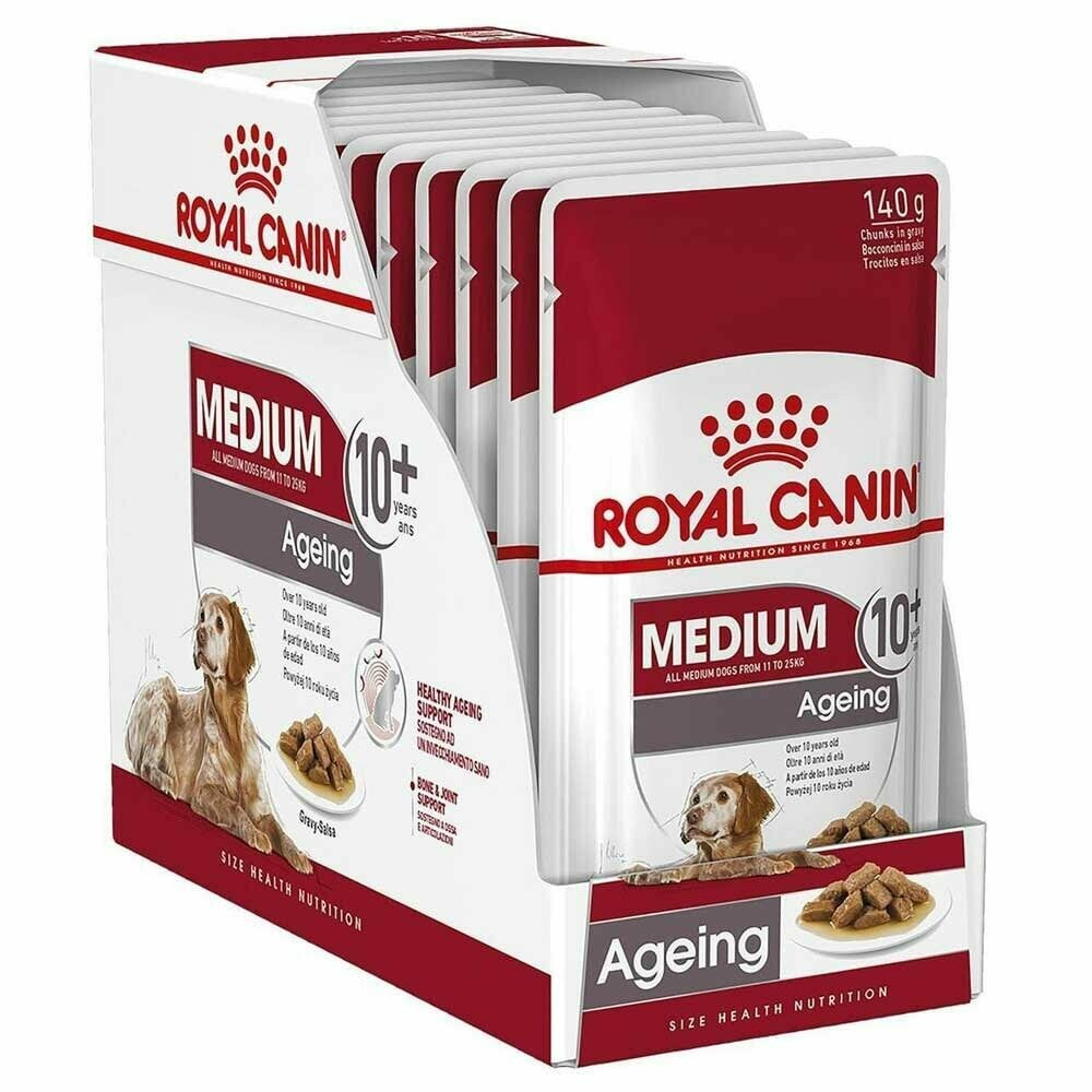 Royal Canin Medium Ageing 10+ Wet Food (10x140g)