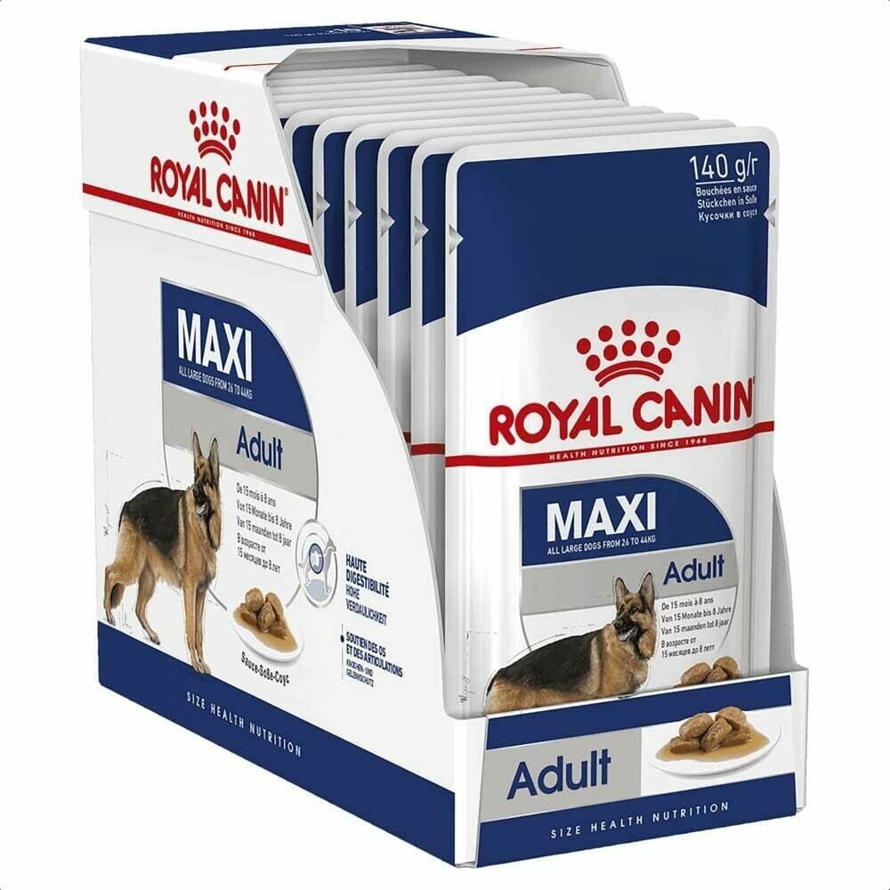 Royal Canin Maxi Adult Wet Food (10x140g)