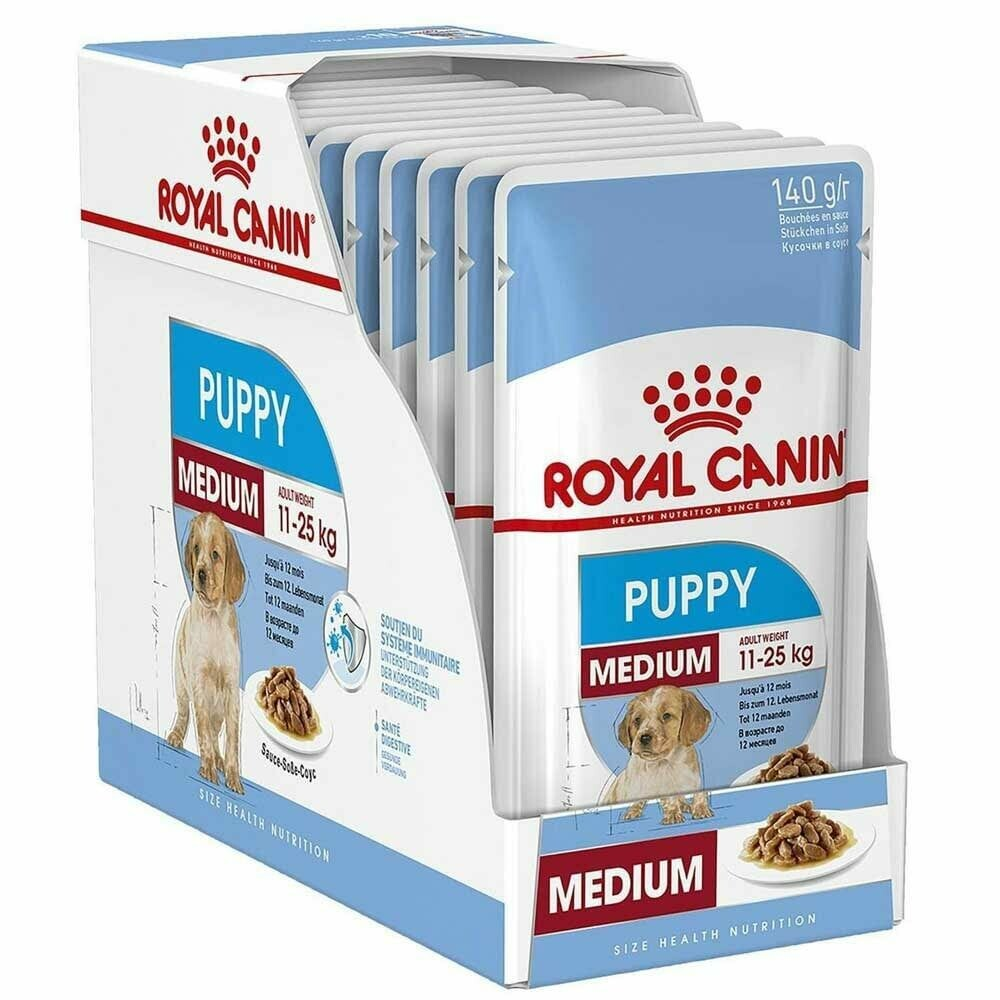 Royal Canin Medium Puppy Wet Food (10x140g)