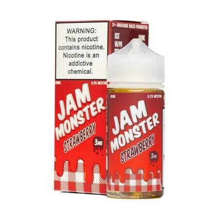 Jam Monster Strawberry Jam 3mg 100ml Vape Juice