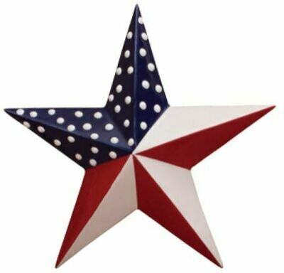 Large USA Star Plaque