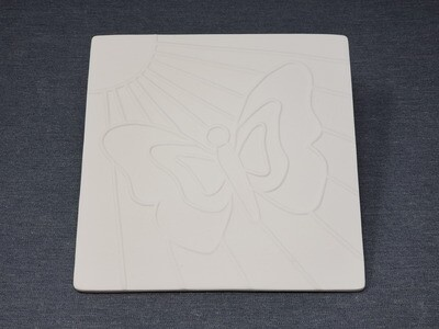 Butterfly Storytime Engraved Tile
