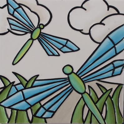 Dragonfly Engraved Tile