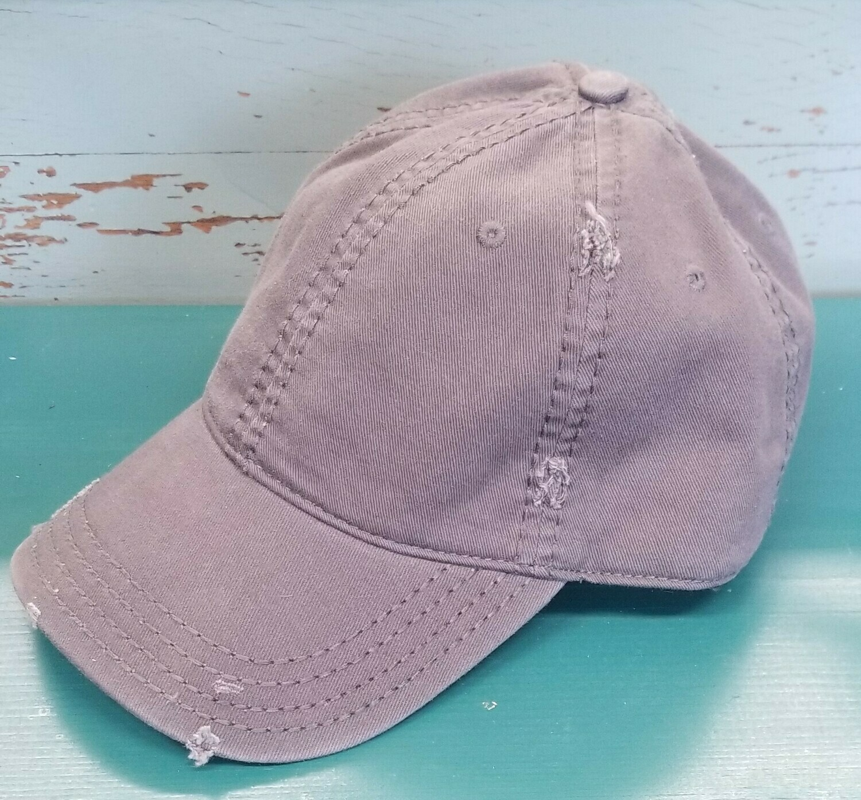 Distressed adjustable cap