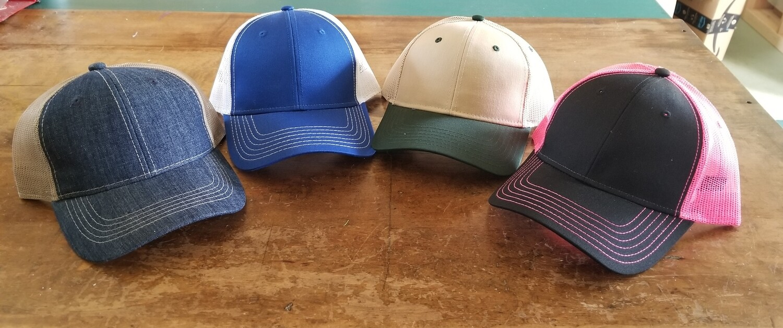 Mesh back structured cap