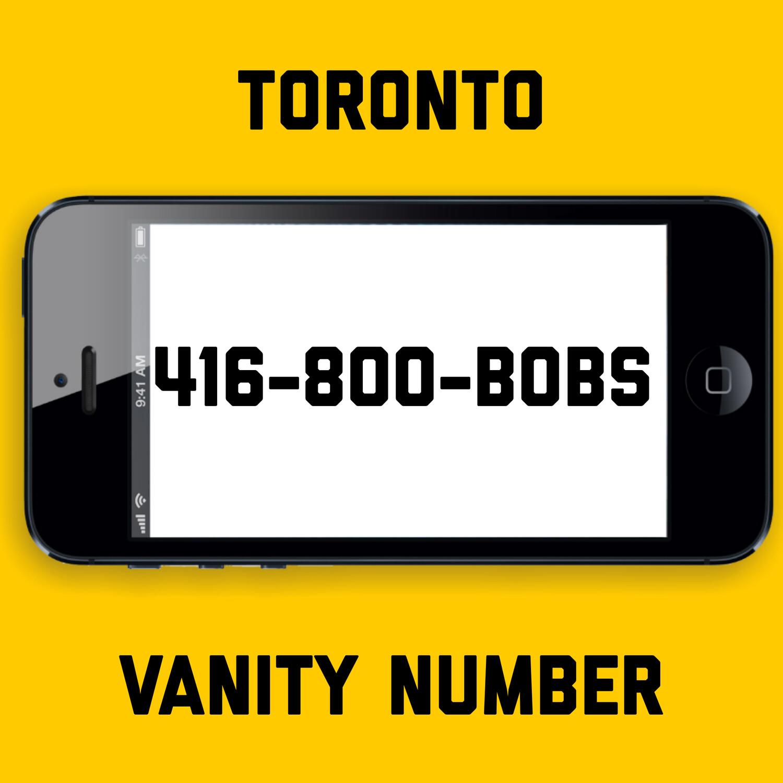 416-800-BOBS VANITY NUMBER TORONTO