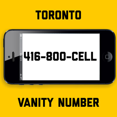 416-800-CELL VANITY NUMBER TORONTO