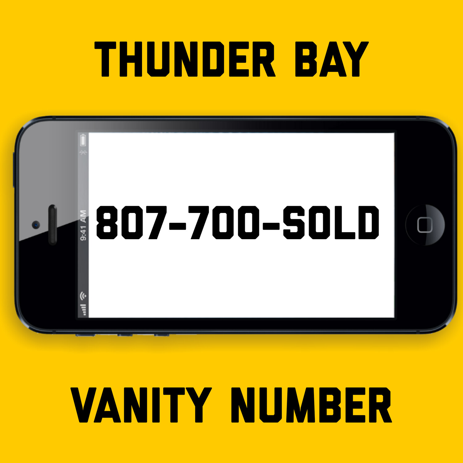 807-700-SOLD VANITY NUMBER THUNDER BAY