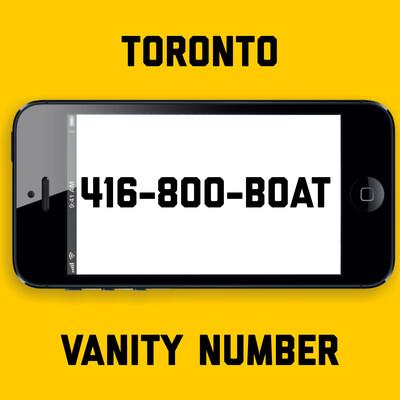 416-800-BOAT VANITY NUMBER TORONTO