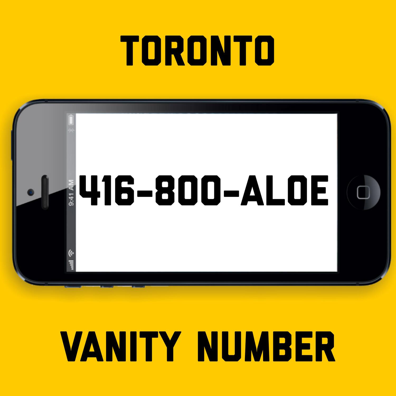 416-800-ALOE VANITY NUMBER TORONTO
