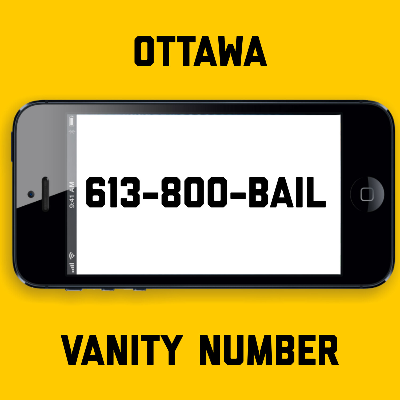 613-800-BAIL VANITY NUMBER OTTAWA