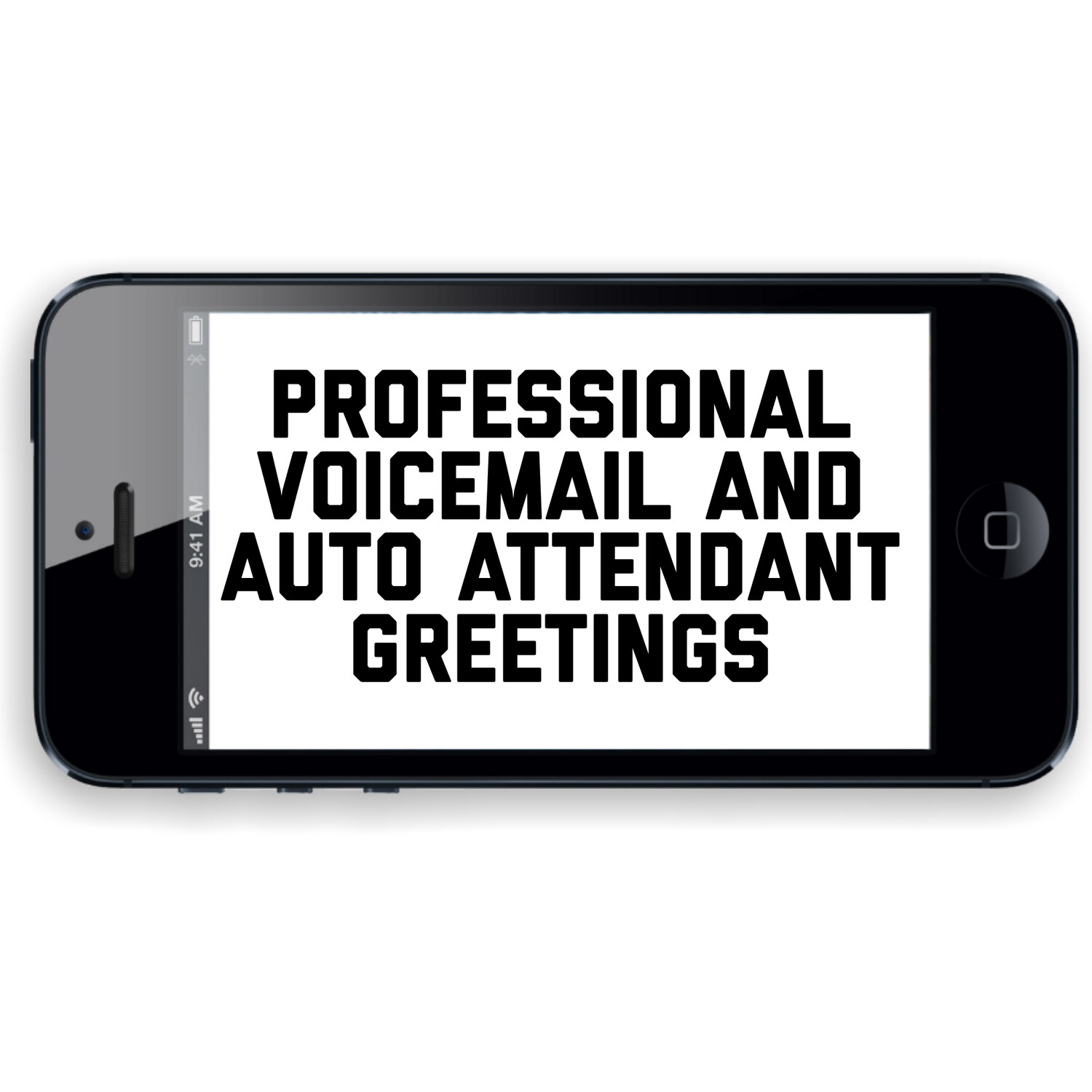 Professional Auto Attendant or Voicemail Greeting