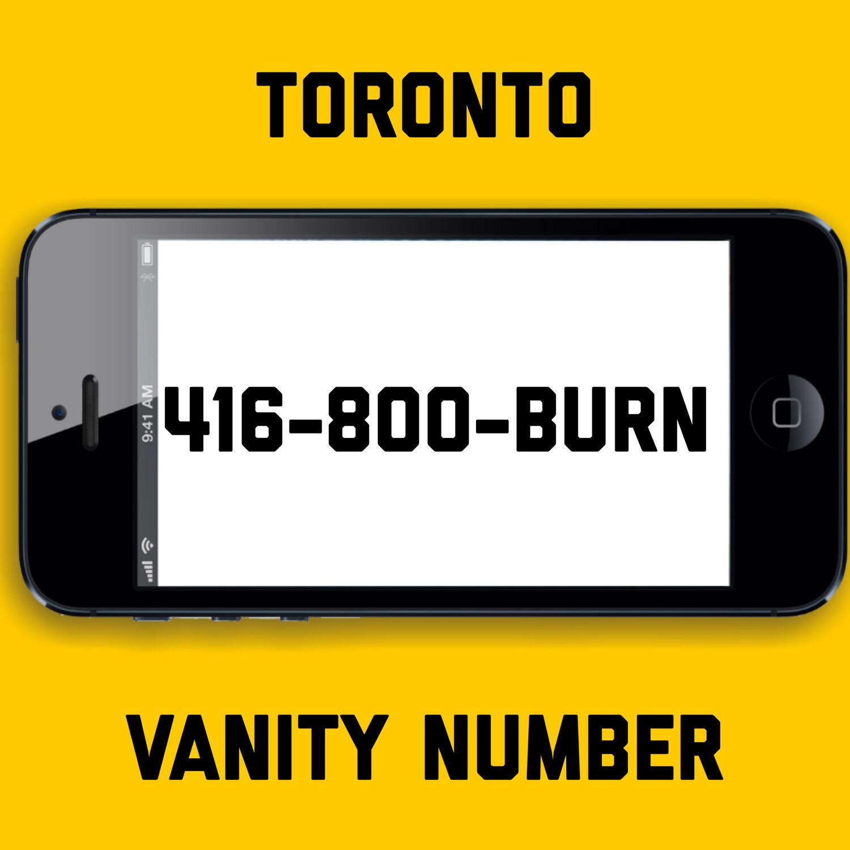 416-800-BURN VANITY NUMBER TORONTO