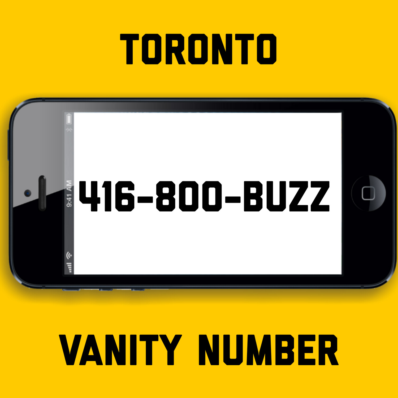 416-800-BUZZ VANITY NUMBER TORONTO