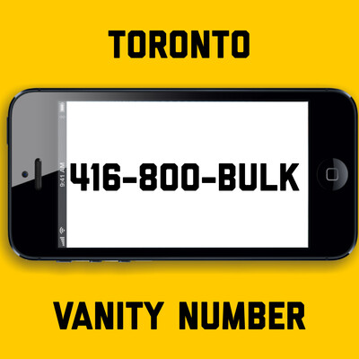 416-800-BULK VANITY NUMBER TORONTO