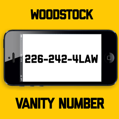 226-242-4LAW VANITY NUMBER WOODSTOCK