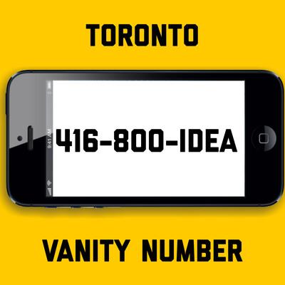 416-800-IDEA VANITY NUMBER TORONTO