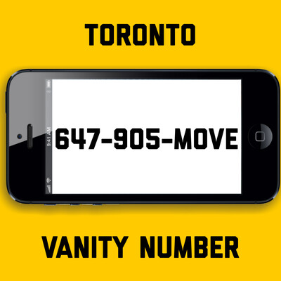 647-905-MOVE VANITY NUMBER TORONTO