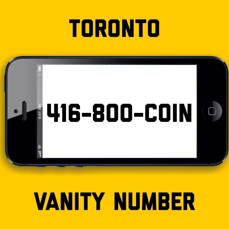 416-800-COIN VANITY NUMBER TORONTO