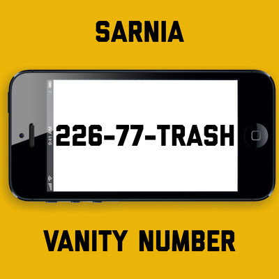 226-77-TRASH VANITY NUMBER SARNIA