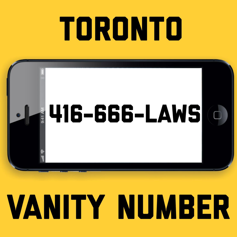 416-666-LAWS VANITY NUMBER TORONTO