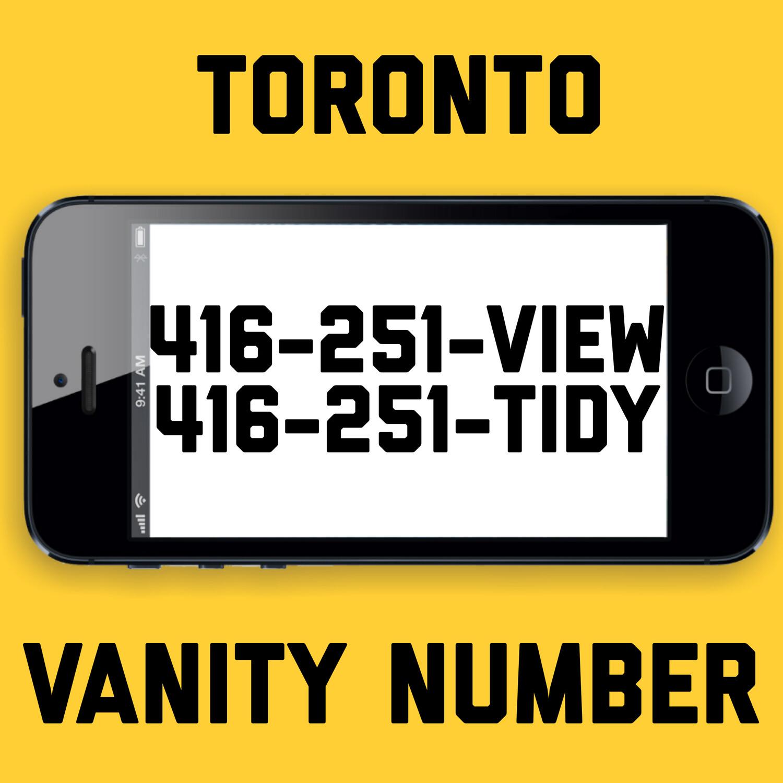 416-251-8439 VANITY NUMBER TORONTO