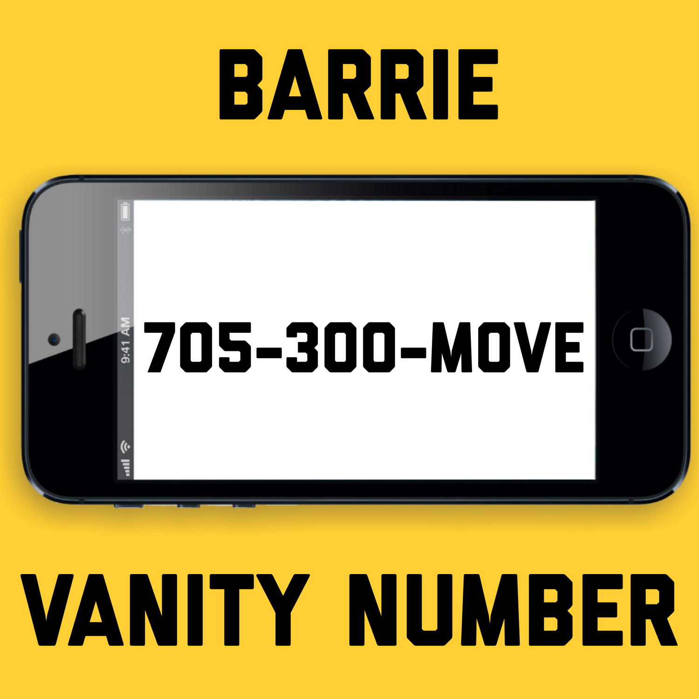 705-300-MOVE VANITY NUMBER BARRIE