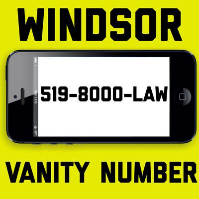 519-800-0529 (519-8000-LAW) WINDSOR VANITY