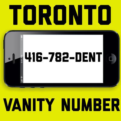 416-782-3368 (DENT)VANITY NUMBER TORONTO