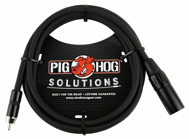 PIG HOG SOLUTIONS - 6FT XLR(M)-RCA CABLE