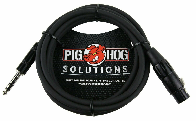 PIG HOG 10FT TRS(M)-XLR(F)