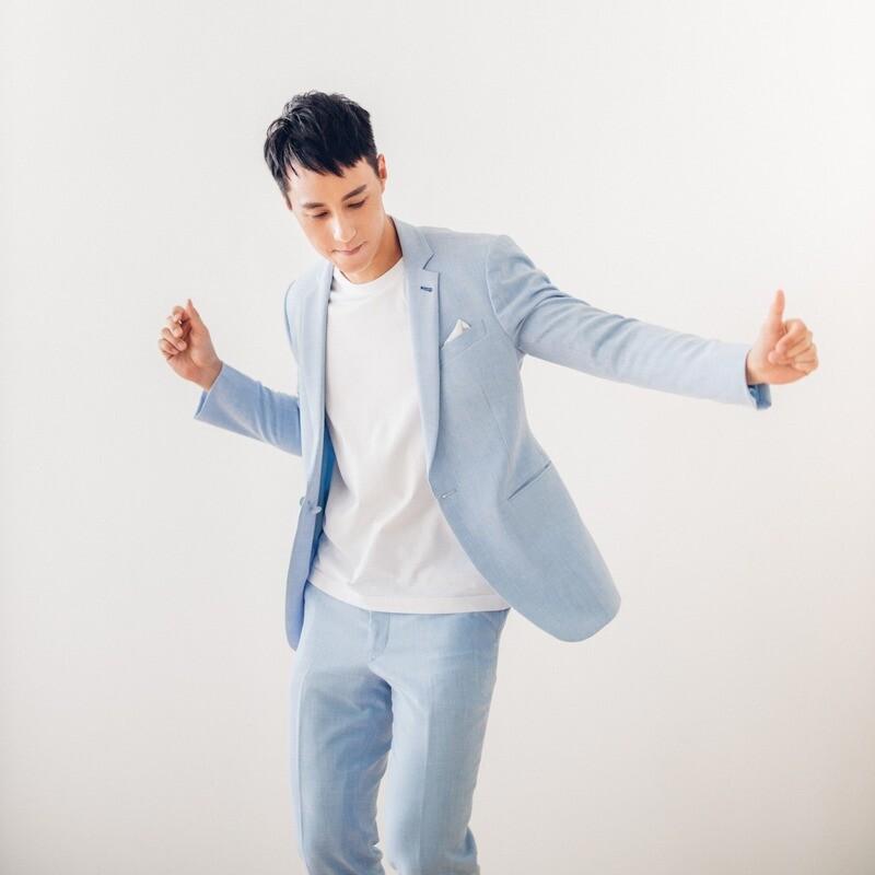 淺藍色商務/休閒西裝套裝