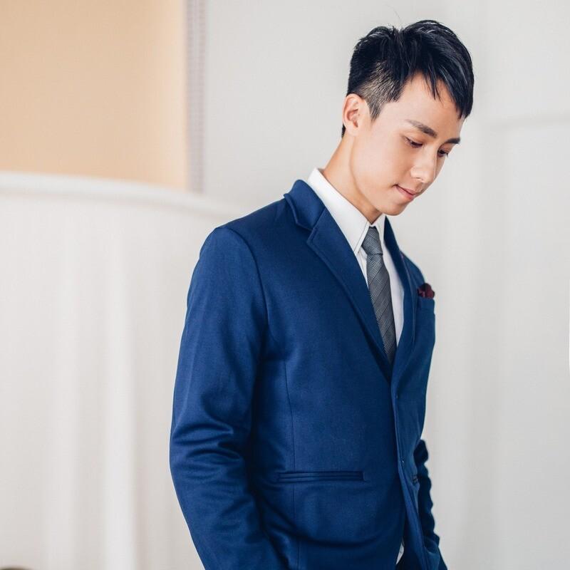 深藍/黑色休閒西裝套裝