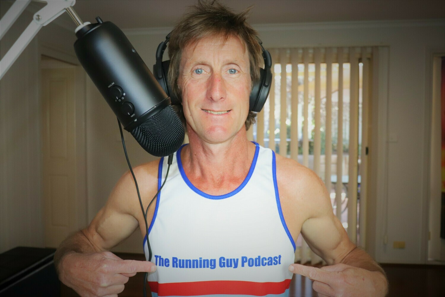 The Running Guy Podcast Singlet