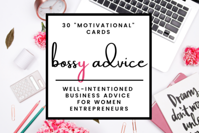 Bossy Advice Daily Motivational Cards