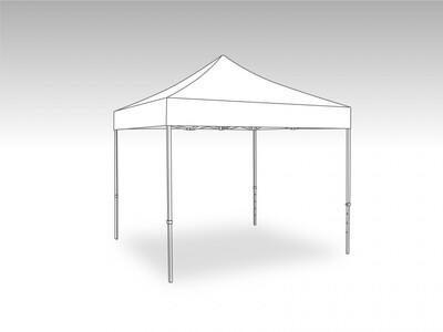 Tonnelle Pliante Alu - Bache polyester 4.0 x 4.0 m
