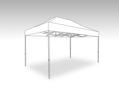 Tonnelle Pliante Alu - Bache PVC 3.0 x 4.5 m
