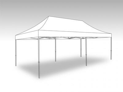 Tonnelle Pliante Alu - Bache PVC 3.0 x 6.0 m