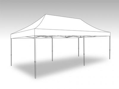 Tonnelle Pliante Alu - Bache PVC 4.0 x 8.0 m